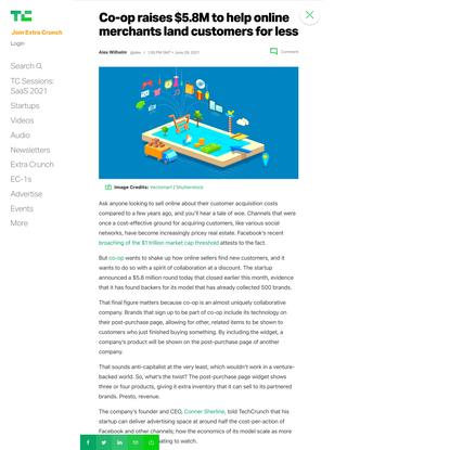 Co-op raises $5.8M to help online merchants land customers for less – TechCrunch