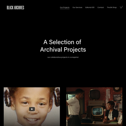 Our Projects — Black Archives