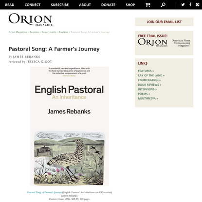 Orion Magazine   Pastoral Song: A Farmer's Journey
