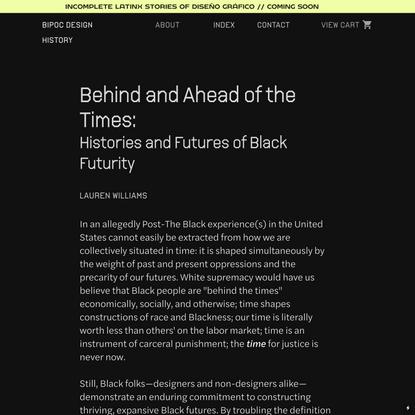 BD2 General — BIPOC Design History