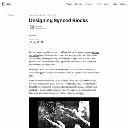 Designing Synced Blocks