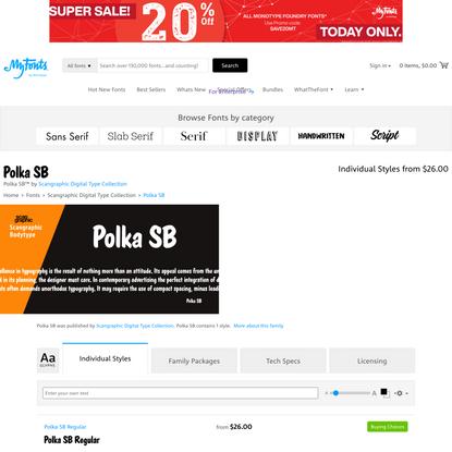 Polka SB | Webfont & Desktop font | MyFonts