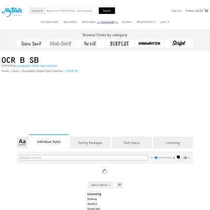 OCR B SB | Webfont & Desktop font | MyFonts