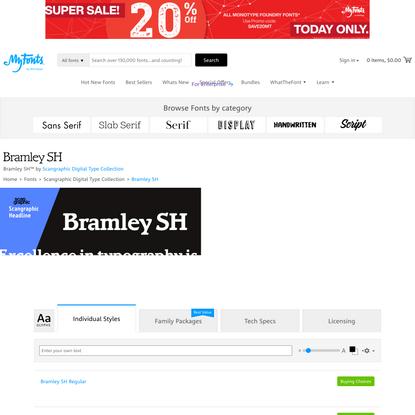 Bramley SH | Webfont & Desktop font | MyFonts