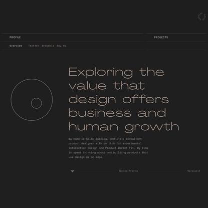 Caleb Barclay - Product Designer
