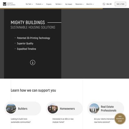Mighty Buildings — Modern 3D-printed Prefab Homes