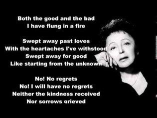 Edith Piaf - Non Je ne regrette rien English Translation