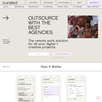Curated | Outsource with the Best Agencies | Agency Outsourcing