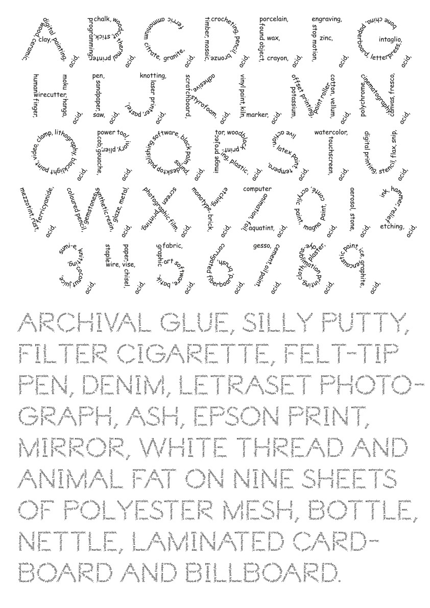 Art Mediums Typeface by Sulki and Min