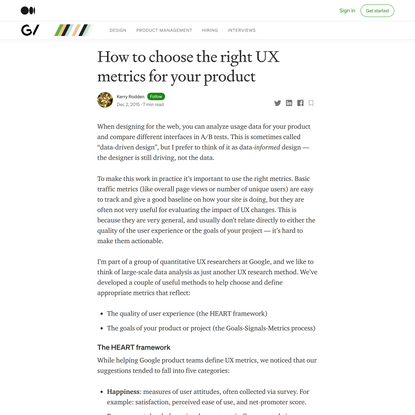 How to choose the right UX metrics for your product