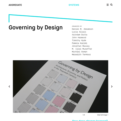 Aggregate - Governing by Design