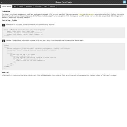 jQuery Form Plugin