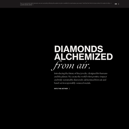 Aether - Diamonds Made from Air