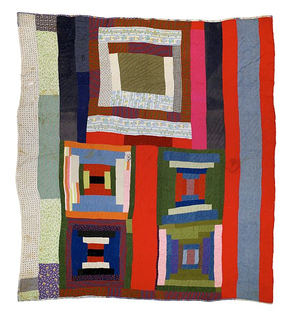 housetop and bricklayer with bars quilt