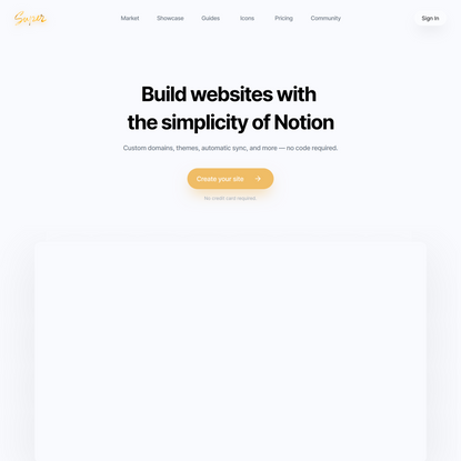 Build websites with the simplicity of Notion