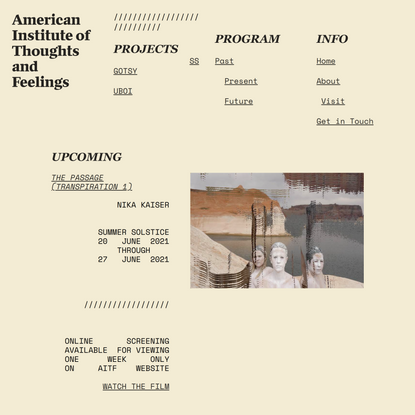 American Institute of Thoughts and Feelings