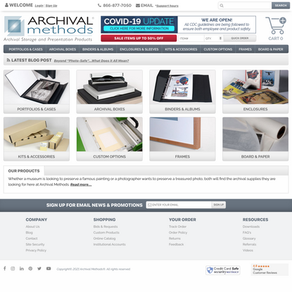 Archival and Photo Preservation Supplies | Archival Methods