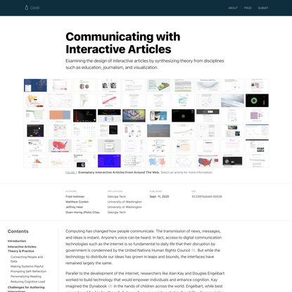 Communicating with Interactive Articles