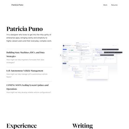 Patricia Puno - Product Designer Portfolio