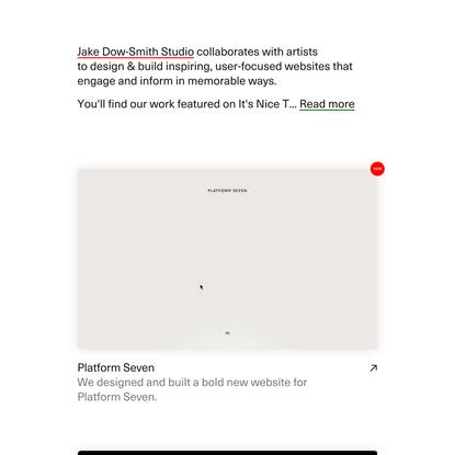 Jake Dow-Smith Studio — A Website Design Studio
