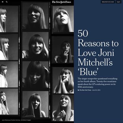 50 Reasons to Love Joni Mitchell's 'Blue'