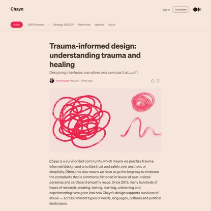 Trauma-informed design: understanding trauma and healing