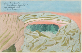 Joseph E. Yoakum - Rain Bow Bridge in in Bryce Canyon National Park near Henriville Utah, stamped 1968
