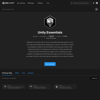 Unity Essentials - Unity Learn