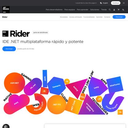 Rider: El IDE .NET multiplataforma de JetBrains