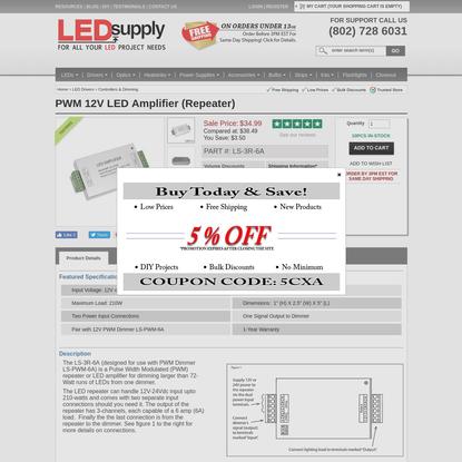 PWM 12V LED Amplifier (Repeater)