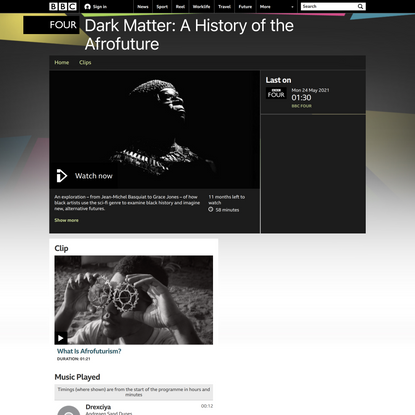 BBC Four - Dark Matter: A History of the Afrofuture