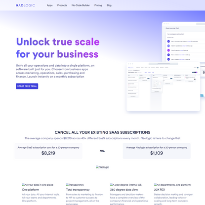 No-code enterprise SaaS platform for small- and medium-sized businesses - Naologic