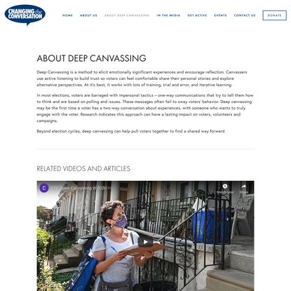 Deep Canvassing - Changing the Conversation Together