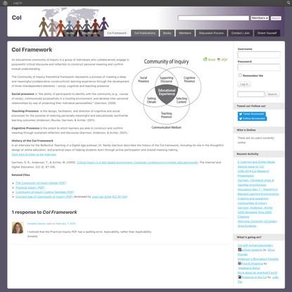 CoI Framework | CoI