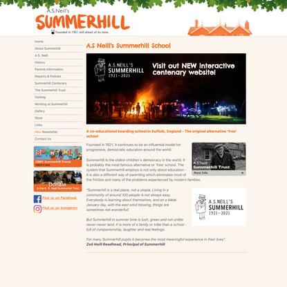 Summerhill School - Democratic schooling in England