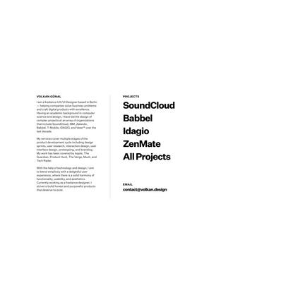 Volkan Günal · UX Designer Portfolio