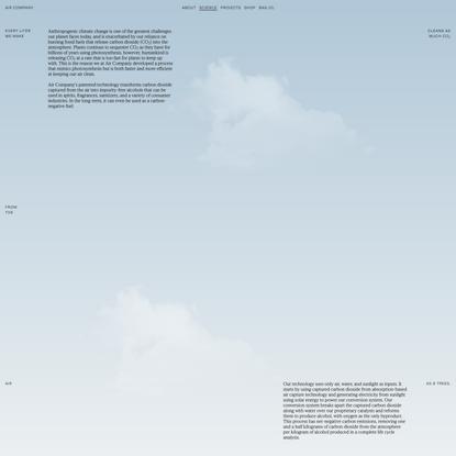 Air Company   Carbon Conversion Technology
