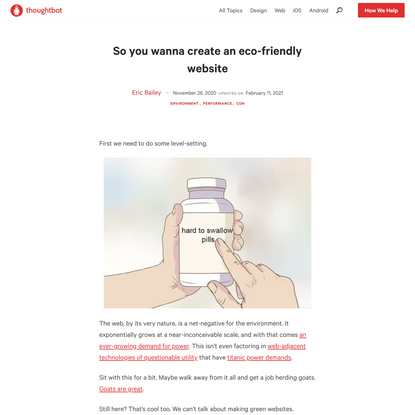 So you wanna create an eco-friendly website