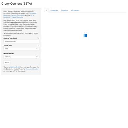 Crony Connect (BETA)
