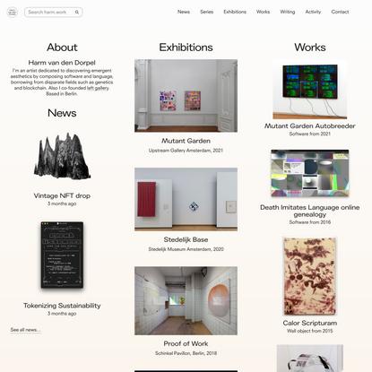 Homepage – Harm van den Dorpel
