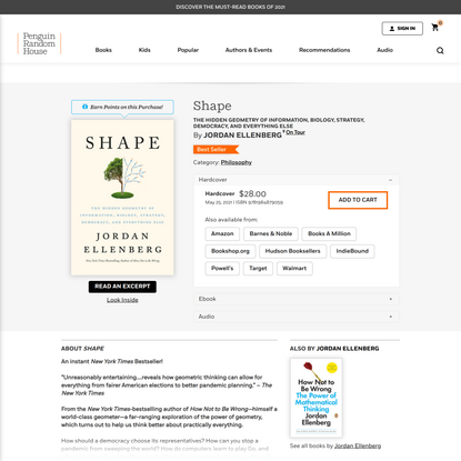 Shape by Jordan Ellenberg: 9781984879059 | PenguinRandomHouse.com: Books