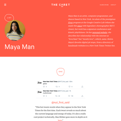 Maya Man - List | The Caret