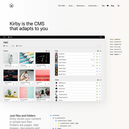 Kirby is the CMS that adapts to you