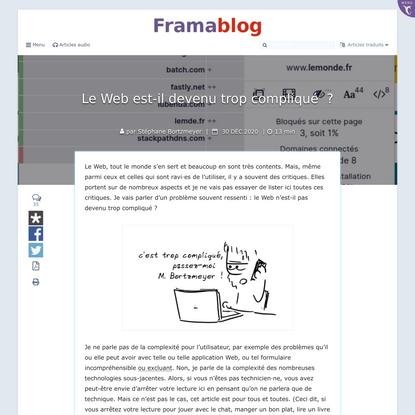 Le Web est-il devenu trop compliqué?