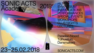 Sonic Acts Academy 2018