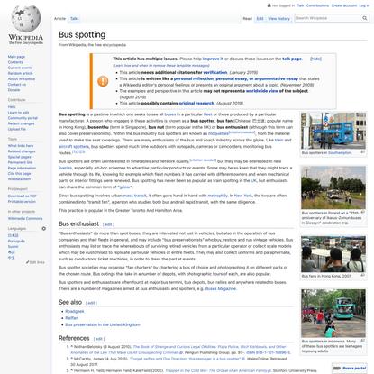 Bus spotting - Wikipedia