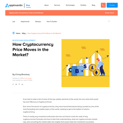 How Cryptocurrency Price Moves in the Market?