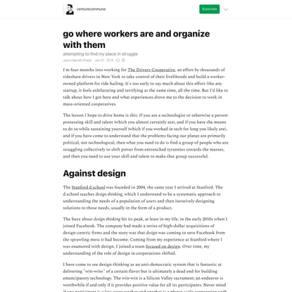 go where workers are and organize with them