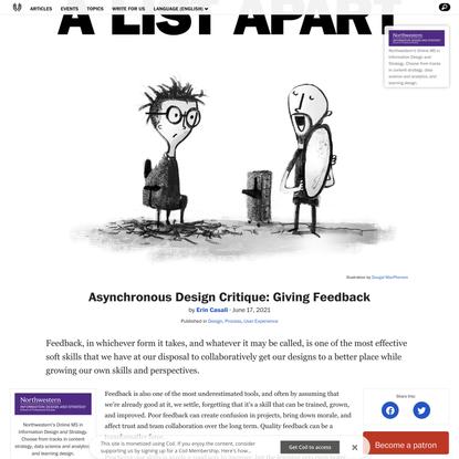 Asynchronous Design Critique: Giving Feedback