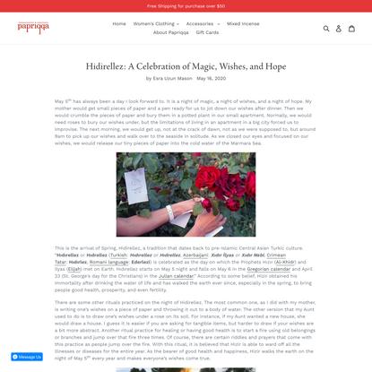 Hidirellez: A Celebration of Magic, Wishes, and Hope